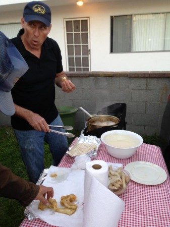 Defrost tasting fried fish